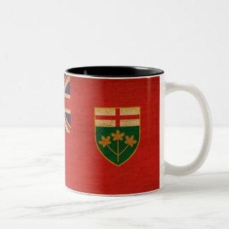 Taza de la bandera de Ontario