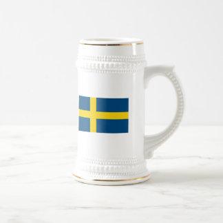 Taza de la bandera de Suecia