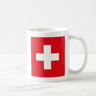 Taza de la bandera de Suiza