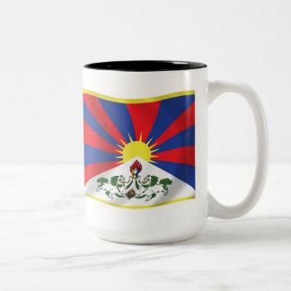 Taza de la bandera de Tíbet