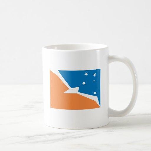 Taza de la bandera de Tierra del Fuego
