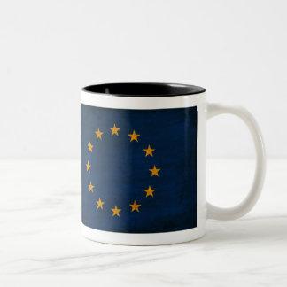Taza de la bandera de unión europea