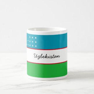 Taza de la bandera de Uzbekistán