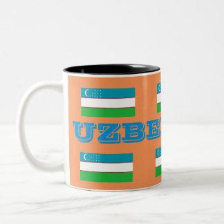 Taza de la bandera de Uzbekistan*