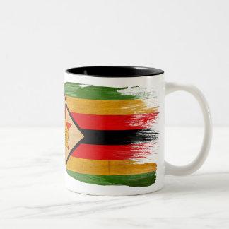 Taza de la bandera de Zimbabwe