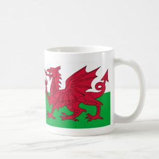 Taza de la bandera del dragón Galés