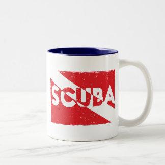 Taza de la bandera del equipo de submarinismo