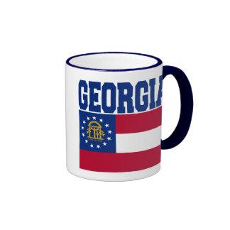 Taza de la bandera del estado de Georgia