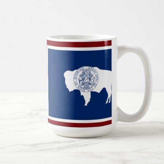 Taza de la bandera del estado de Wyoming
