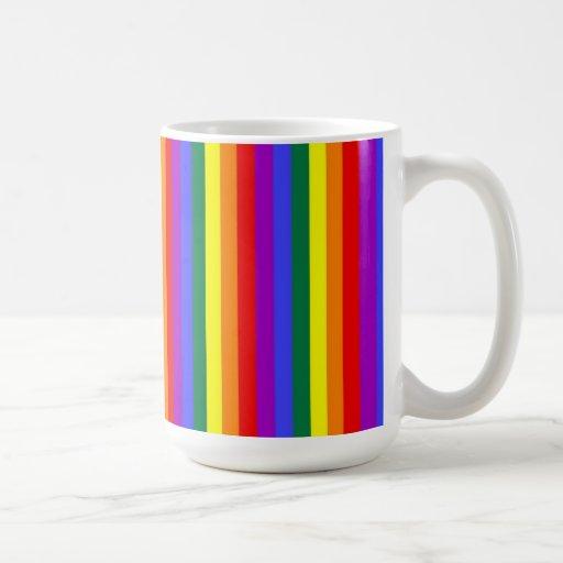 Taza de la bandera del orgullo gay del arco iris