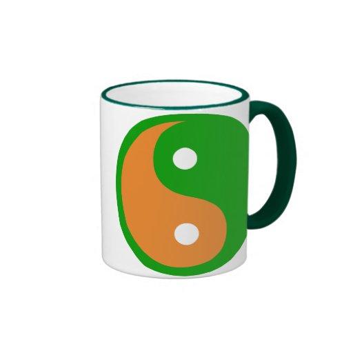 Taza de la bandera del zen de Irlanda