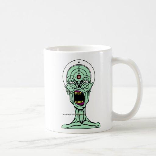 Taza de la blanco del cazador del zombi