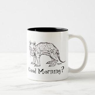 """Taza de la """"buena mañana"""" del dibujo animado"""
