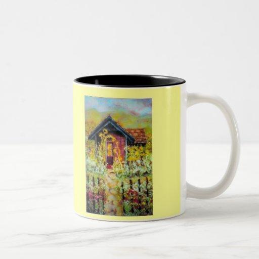 taza de la cabaña del girasol