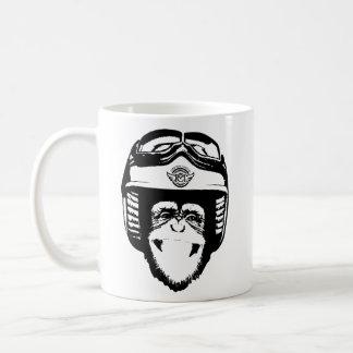 Taza de la cabeza del mono de Moto