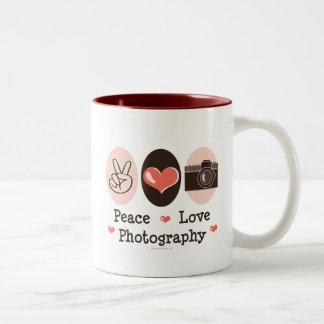 Taza de la cámara de la fotografía del amor de la