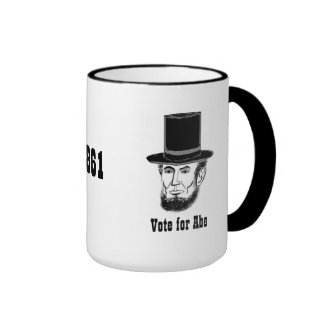 Taza de la campaña de Abe Lincoln