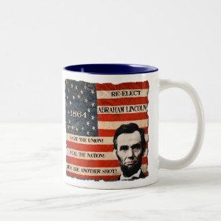 Taza de la campaña de Abraham Lincoln 1864