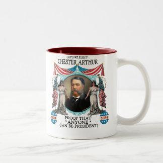 Taza de la campaña de Chester Arturo 1884
