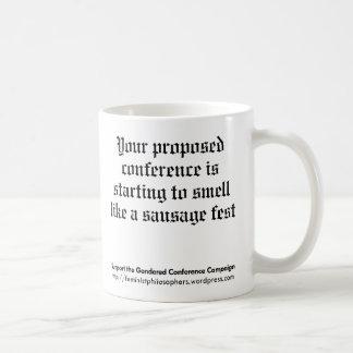 Taza de la campaña de la conferencia de Gendered