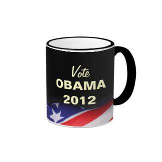 Taza de la campaña de OBAMA 2012 del voto
