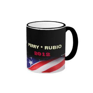 Taza de la campaña de PERRY/de RUBIO 2012