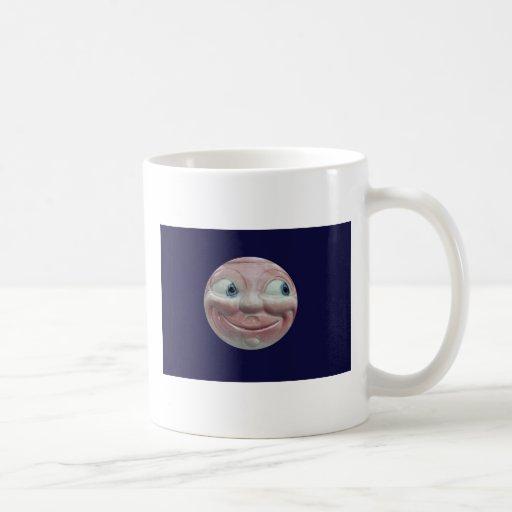 Taza de la cara de luna