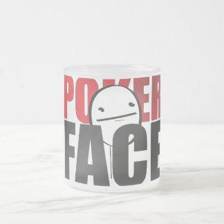 ¡Taza de la cara de póker! Taza De Cristal