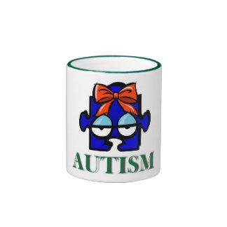 Taza de la cara del autismo