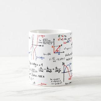 Taza de la chuleta de la matemáticas