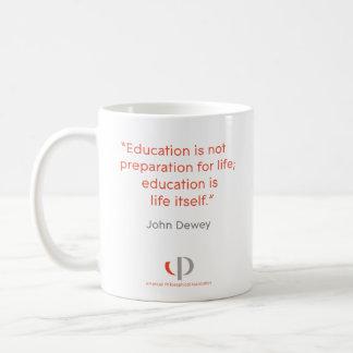 Taza de la cita de Dewey