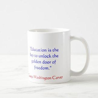 Taza de la cita de George Washington Carver