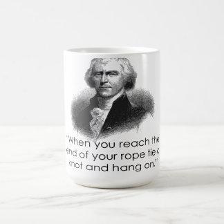 Taza de la cita de la cuerda de Thomas Jefferson