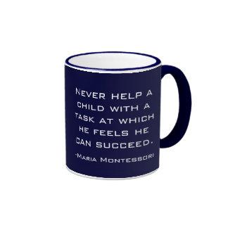 Taza de la cita de Maria Montessori