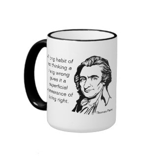 Taza de la cita de Thomas Paine