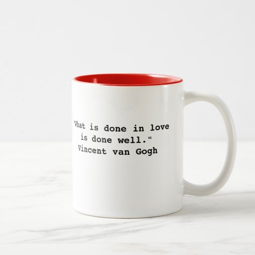 Taza de la cita de Vincent van Gogh