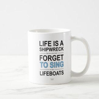 Taza de la cita del naufragio
