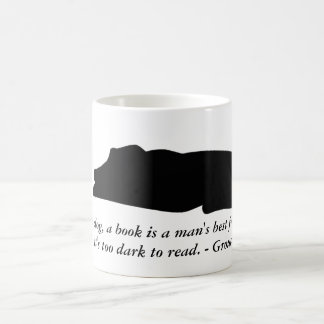 Taza de la cita del perro y del libro