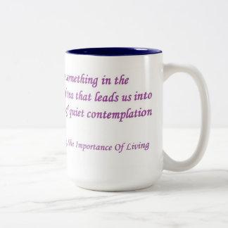 Taza de la cita del té de Lin Yutang