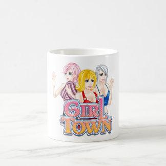 Taza de la ciudad del chica taza básica blanca