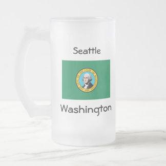 Taza de la ciudad del mapa de la bandera de