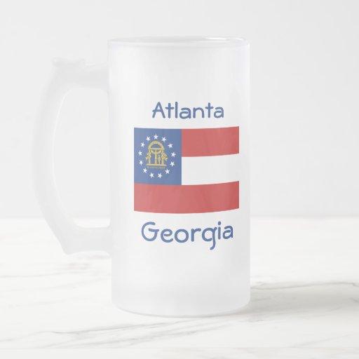 Taza de la ciudad del mapa de la bandera de Georgi