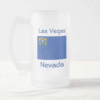 Taza de la ciudad del mapa de la bandera de Nevada