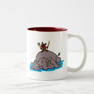 Taza de la comida del elefante