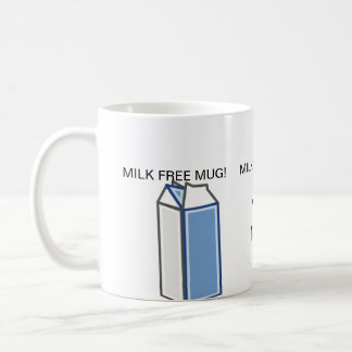 Taza de la conciencia de la alergia de la leche