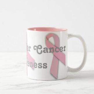 Taza de la conciencia del cáncer de Chesticular de