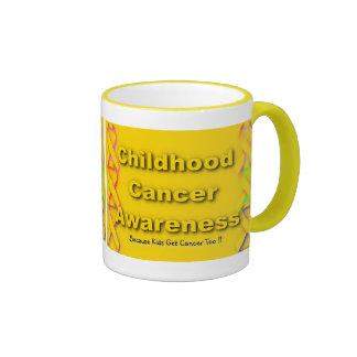 Taza de la conciencia del cáncer de la niñez