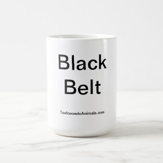 Taza de la correa negra