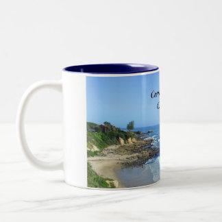 Taza de la costa de Corona del Mar California