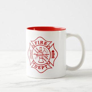 Taza de la cruz maltesa del departamento del fuego